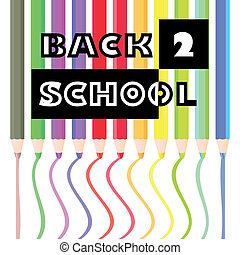 back to school pencils theme -illustration