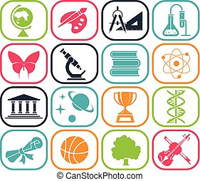 Back to school. Pictogram icon set. School days.