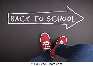 Back to school - Creative concept with Back to school theme