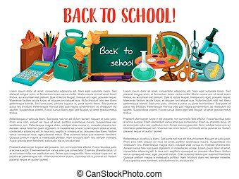 Back to school poster for education design