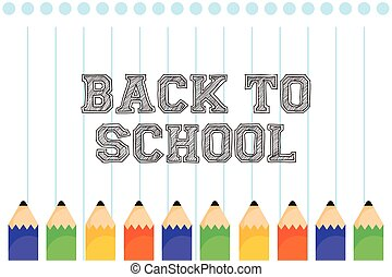 back to school poster with colors pencils