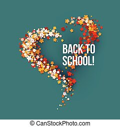 Back to School poster with frame flowers