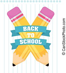back to school poster with pencils