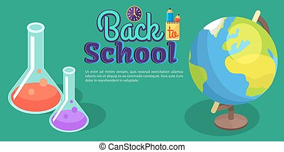 Back to School Poster with Scientific Equipment