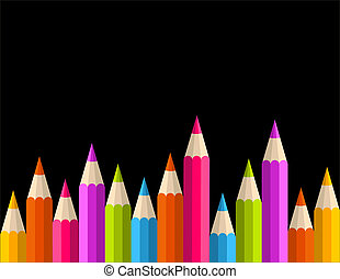 Back to school rainbow pencil banner pattern