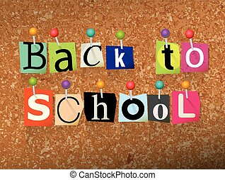 Back to School Ransom Note Illustration - The words Back to ...