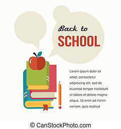 Back to school, read the books, concept backgound - Back to...
