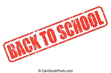 Back to school red stamp text