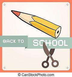 Back to School Retro Vector Flat Design Illustration