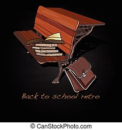 Back to school retro vector