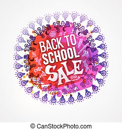 Back to school sale circle splash