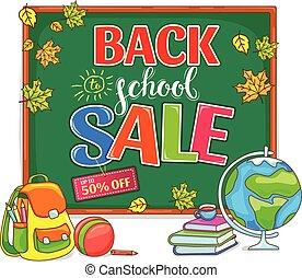 Back to school sale illustration with school board