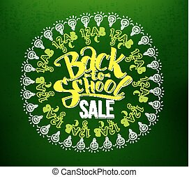 Back to school sale lettering in circle