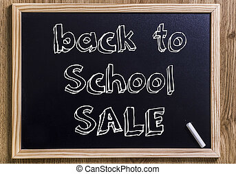 back to School SALE - New chalkboard with 3D outlined text