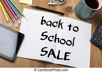 back to School SALE - Note Pad With Text