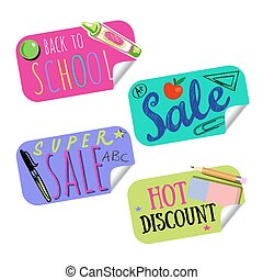 Back To School Sale Tag Or Sticker Set