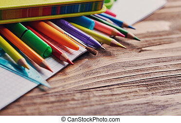 Back to School. School and office concepte