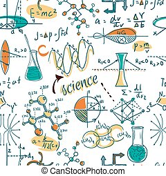 science lab objects doodle - Back to School: science lab...