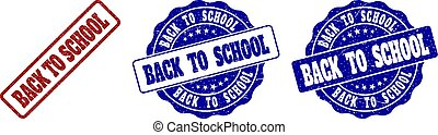 BACK TO SCHOOL Scratched Stamp Seals