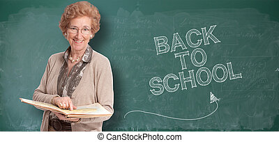 Back to school senior - Portrait of an elegant senior lady...