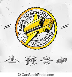 Back to school, set icons