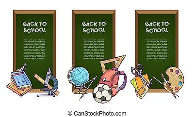 Back to school set of banners.