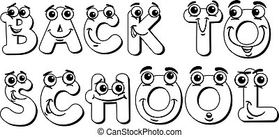back to school sign coloring page