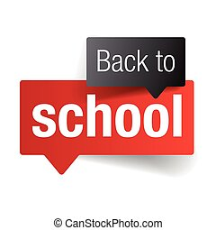 Back to school sign label