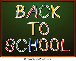 Back to school signboard