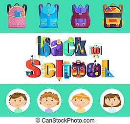 Back to School, Stationery and Backpacks, Pupils