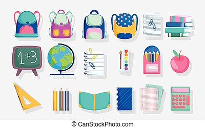 back to school stationery supplies accessories education set