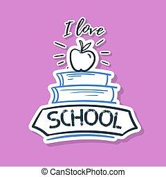 Back To School Sticker Books