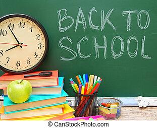 Back to school. - School accessories. Back to school.