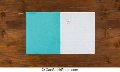Back to school stop motion animation with pens and paints -...