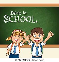 back to school student uniform education