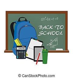 Back to school supplies, vector