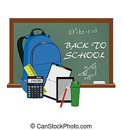 Back to school supplies, vector