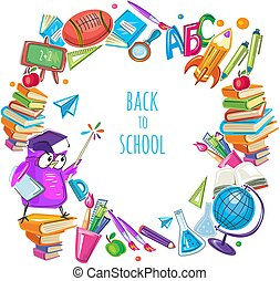 Back to school template frame