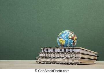 back to school template with books