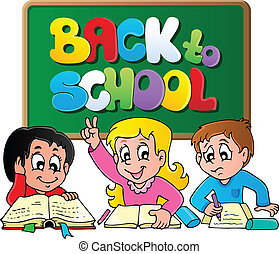 Back to school thematic image 1 - vector illustration.