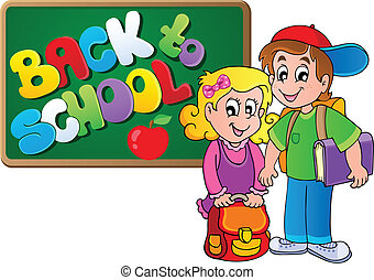 Back to school thematic image 4 - vector illustration.