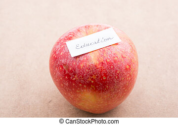 Back to school theme with an apple