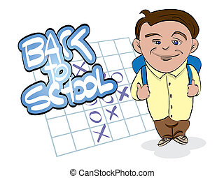 back to school theme with boy