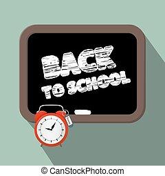 Back to School Title on Blackboard Vector Illustration