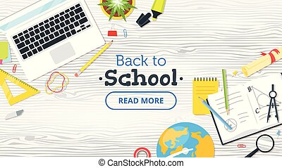 Back to school top view
