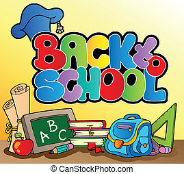 Back to school topic 1 - vector illustration.