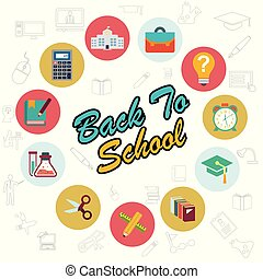 Back to school typographic design with stylish background vector