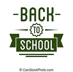 Back to School typography Designs Label.