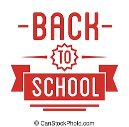 Back to School typography Designs Label. Vector Set.
