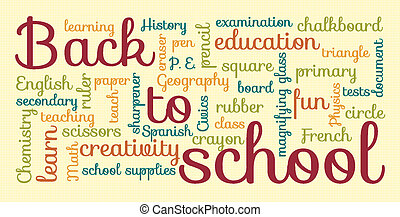 """Back to school typography - Colorful """"Back to school""""..."""